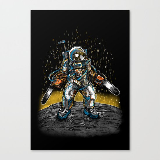 Texas Chainsaw Astronaut Canvas Print