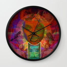 I light My Eyes Wall Clock