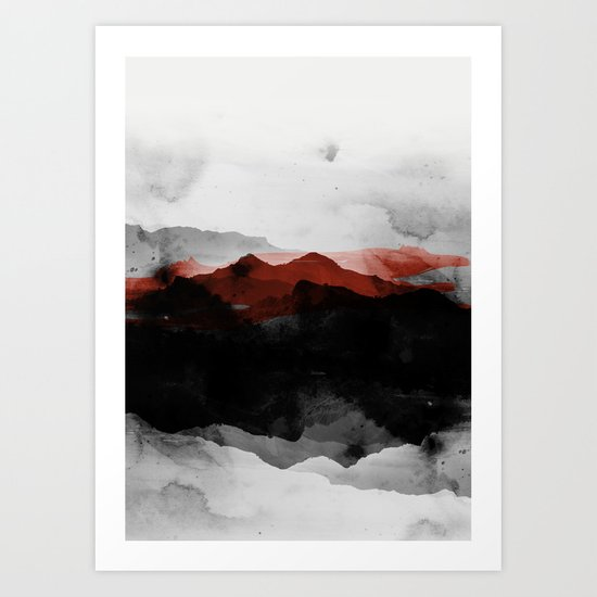 nature montains Art Print