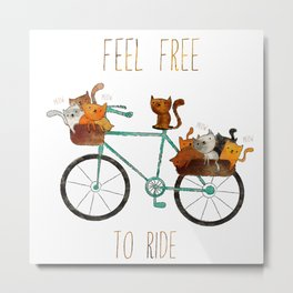 bicycle /Agat/  Metal Print