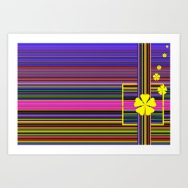 GRAPHIC POP of FLOWERS Art Print