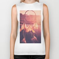 dream catcher Biker Tanks featuring Dream Catcher by Whitney Retter