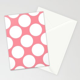 Polka Dots Pink Stationery Cards