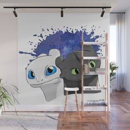 Light/Night Fury Wall Mural
