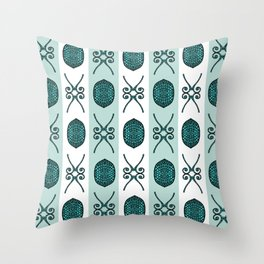 Bristle Mint Throw Pillow