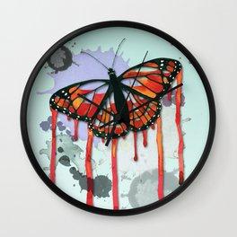 Leaking butterfly Wall Clock