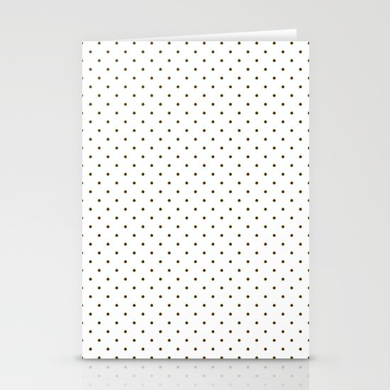 Black polka dots Stationery Cards