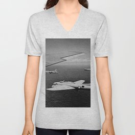 B-17F Flying Fortress Bombers over the Southwest Pacific Unisex V-Neck