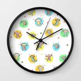 cute animals shaking butts after swimmig, summer is here yay! Wall Clock