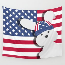 INDEPENDENCE DAY BUNNY Wall Tapestry