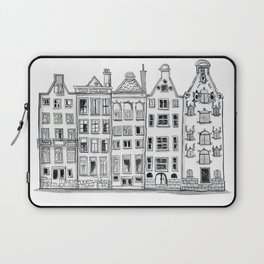 Amsterdam Canal Houses Sketch Laptop Sleeve