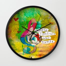 Music Ignites Our Souls Wall Clock