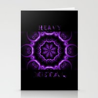 heavy metal Stationery Cards featuring Heavy Metal by inkedsandra