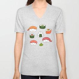 Back to listings Sushi Shirt, Cute Gift for Sushi Lovers, Kawaii Sushi Clothing, Sushi Unisex V-Neck