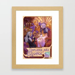 Desert Palace Meeting Framed Art Print