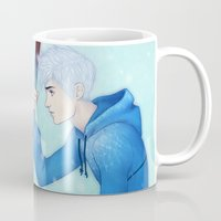 jack frost Mugs featuring Jack Frost by ribkaDory