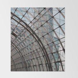 train station - glass - Berlin Throw Blanket