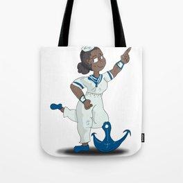 Anchor Pose Tote Bag