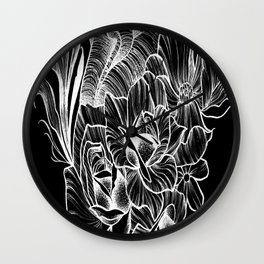 """""""poetry in the heart"""" Wall Clock"""