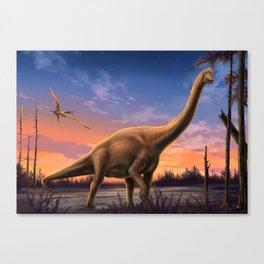 Jurassic Dinosaurs Canvas Print
