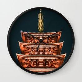 History and Symmetry - Senso-ji Five-story Pagoda Wall Clock