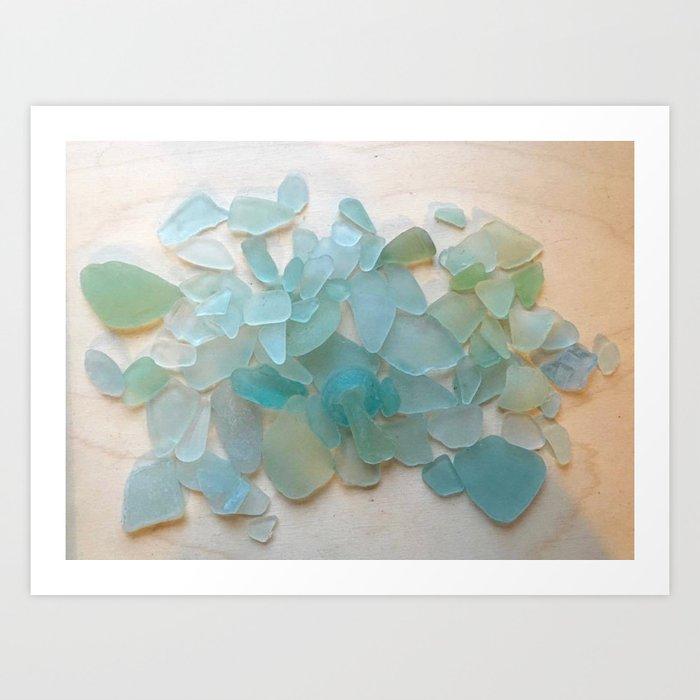 Ocean Hue Sea Glass Kunstdrucke
