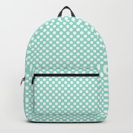 Beach Glass and White Polka Dots Backpack