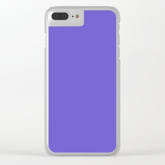 color slate blue Clear iPhone Case