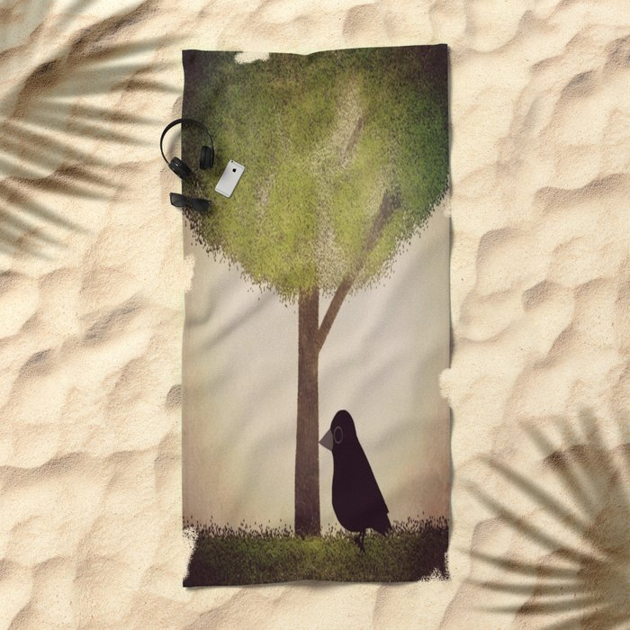 Crow-196 Beach Towel