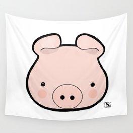 Piggy Kawaii Wall Tapestry