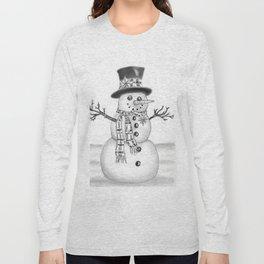 the snowman Long Sleeve T-shirt