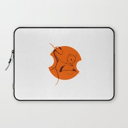 Cat in Lines Laptop Sleeve