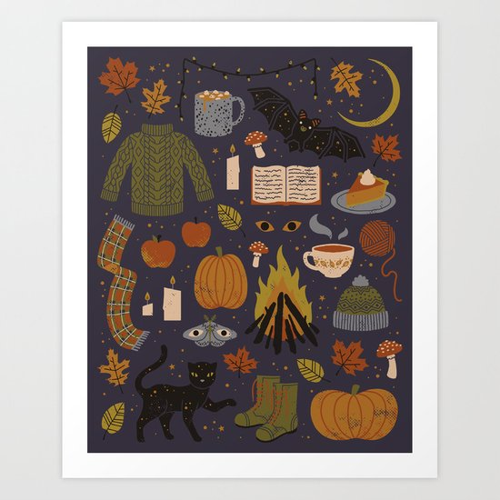 Autumn Nights Art Print