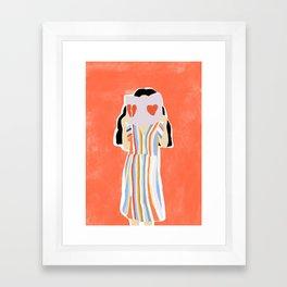 Broken Heart Framed Art Print