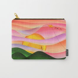 Naive art sunset Carry-All Pouch