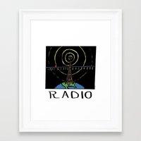 radio Framed Art Prints featuring Radio by Ken Coleman