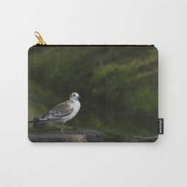 Bird on a stone parapet Carry-All Pouch