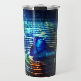 The Butterfly Effect in Blue Travel Mug