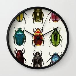 Scarab Beetles Wall Clock
