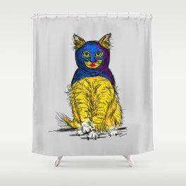 BAT CAT MAGIC Shower Curtain