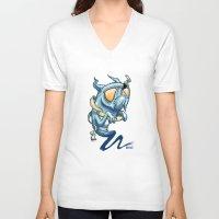 beard V-neck T-shirts featuring Beard by ART OF SOOL