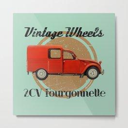 Vintage Wheels: Citroën 2CV Fourgonnette Metal Print