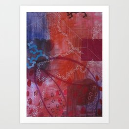 Rouge abstract Art Print
