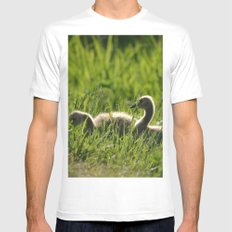 Goslings in the Grass MEDIUM White Mens Fitted Tee