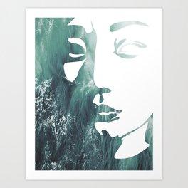 Mask 1/3 Art Print