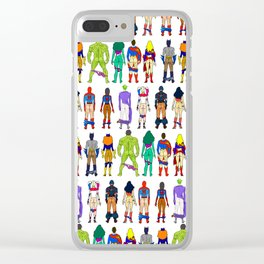 Superhero Butts - Power Couple on Grey Clear iPhone Case