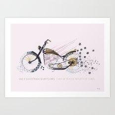 moto flower Art Print