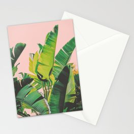 Banana Leaves III (Pink) Stationery Cards
