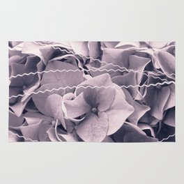 A Sea of Light Purple Lilac Hydrangea Blossoms #2 #floral #art #society6 Rug