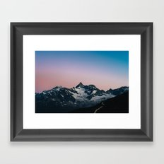 Hiking up mountains Framed Art Print